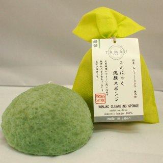 こんにゃくスポンジ(緑茶)
