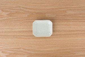 長角木甲小皿 | 灰釉