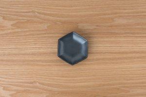 六角小皿 | 黒鉄砂