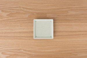 SQUARE | 角皿(小) 灰釉