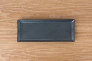 SQUARE | 長角皿 黒鉄砂