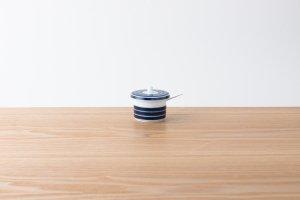 ARITA PORCELAIN LAB | 薬味入 独楽筋(藍)