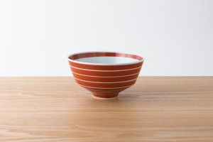 ARITA PORCELAIN LAB | 丼 独楽筋(赤)