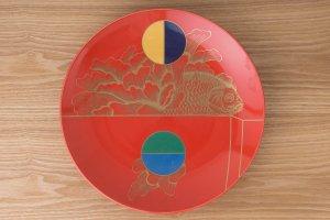 KINRANDE | 大皿 金襴手古伊万里金魚紋