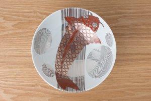 KINRANDE | 大鉢 銀襴手古伊万里鯉紋