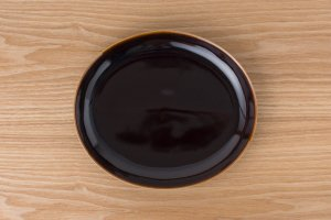 OVAL | 楕円皿(大) アメ釉