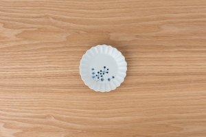 古染付 | 菊型小皿 草花