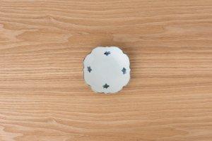 古染付 | 四稜小皿 小花
