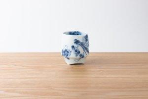 香酒盃 | Lサイズ | 古染鳥紋