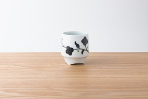 香酒盃 | Lサイズ | 黒草花