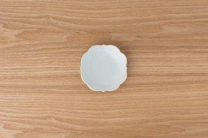 古白磁 | 四稜小皿