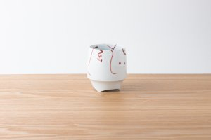 香酒盃 | Lサイズ | 赤絵花鳥風月