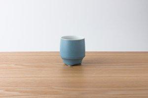 香酒盃   Mサイズ   青結晶釉