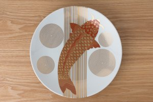 有田HOUEN 有田四様 | 金襴手古伊万里様式 | 大皿 鯉紋
