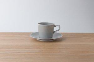 OVAL | カップ&ソーサー グレー