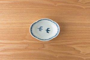 木甲小鉢 古染鳥紋