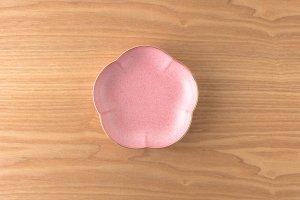 結晶釉 | 取皿 |  赤結晶釉