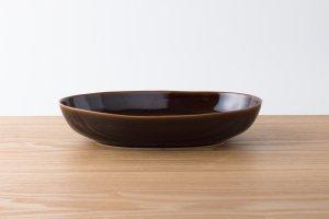 OVAL | 楕円鉢(大) アメ釉