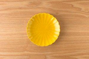 菊型取皿 |  黄釉