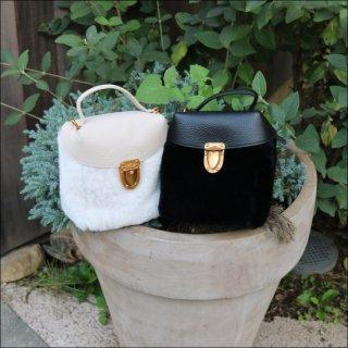 フラップムートンハンドバッグ
