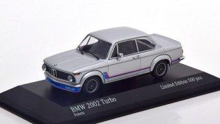 【直輸入品】ドイツショップ特注 ミニチャンプス 1/43 BMW 2002 ターボ (シルバー)