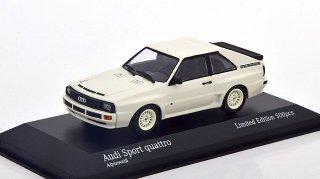 【直輸入品】ドイツショップ特注 ミニチャンプス 1/43 アウディSport Quattro 1984 (ホワイト)