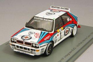 スパーク 1/43 ランチア デルタ HF インテグラーレ 1992 モンテカルロ ラリー 3位 #1 J.カンクネン/J.Piironen