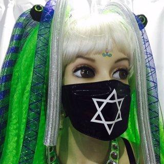 h : PVC マスク print ヘキサグラム