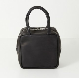 M074 MORMYRUS GLOSS LEATHER CUBE TOTE