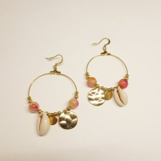 PAS SI SAGES <br> ACORI PINK /<br>パスシサージ<br>ピアス<br>ピンク