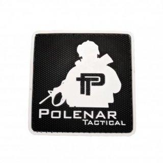 PT logo PVC patch | White/Black