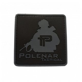 PT logo PVC patch| Grey/Black