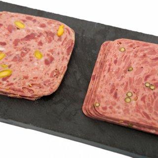【複雑なフレーバーが楽しいモルタデッラ】鹿肉のモルタデッラ ・猪肉のモルタデッラ   各 約100g スライス