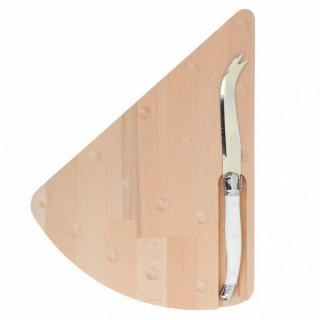 【おうちで美味しいチーズを楽しもう】Jean Dubost Laguiole チーズボードセット ミルク (ソフトチーズナイフ/カッティングボード)