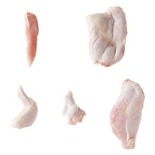 【朝びき鶏がご家庭の食卓に】朝引き1番!大山どり 半羽解体!各部位食べ比べセット
