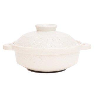 IH対応型ヘルシー蒸し鍋「優」(白釉)(小)