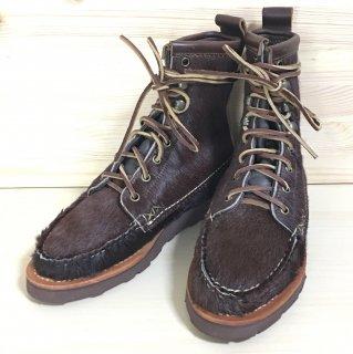 """【レディース】""""試着程度品"""" YUKETEN(ユケテン)×BEAMS BOY(ビームスボーイ)Maine Guide Boots(メインガイドブーツ)Brown Hair US5.5程度"""