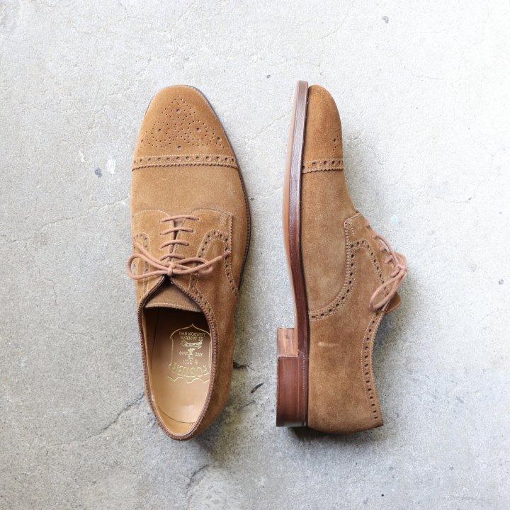 """""""未使用品"""" Foster&son(フォスターアンドサン)Semi Brogue Shoes(セミブローグ シューズ)Crockett&Jones製 UK8 DEAD STOCK 箱/シューキーパー付"""
