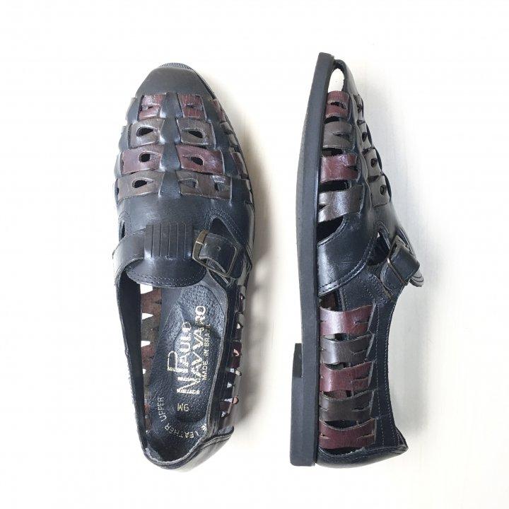 """""""極美品"""" PAULO NAVVARO(パウロ ナヴァロ)Mexican Sandal(メキシカン サンダル)ブラジル製 Size:9M"""