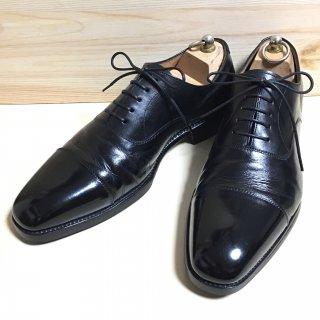 """""""美品"""" YANKO(ヤンコ)Straight Tip Shoes(ストレートチップ シューズ)Size:8  ブラック 14296"""