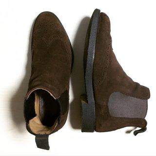 """""""中古品"""" CHEANEY(チーニー)Side Gore Boots(サイドゴア ブーツ)UK6.5程度 スエード REGENT ブラウン"""