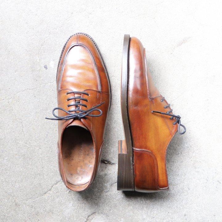 """""""中古品"""" Ethos club.(エトスクラブ)Utip Shoes(Uチップ シューズ) 25.0cm程度 ライトブラウン"""