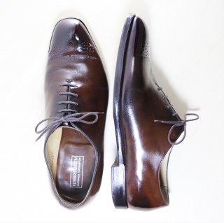 """""""中古品"""" EDWARD GREEN(エドワードグリーン)Wholecut Shoes(ホールカットシューズ)NEWBURY UK8.5 E 808ラスト ダークブラウン 00s"""