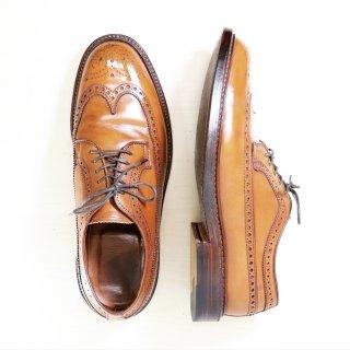 """""""中古品"""" Alden(オールデン)× J.CREW別注 Long Wingtip Shoes(ロングウイングチップシューズ)US8 D タバコブラウン バリーラスト 97641"""