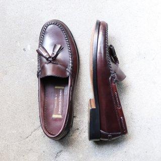 """""""美品"""" Johnston&Murphy(ジョンストン&マーフィー)Tasseled Loafer (タッセルローファー)HANDCRAFTED バーガンディブラウン 10 M ブラジル製 90s"""