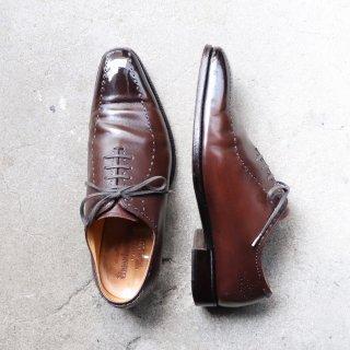 """""""中古品"""" UNION IMPERIAL(ユニオン インペリアル)Swirl mocca Shoes(スワールモカ シューズ)Prestige 6EEE U1102 キップレザー 茶 定価¥47300"""