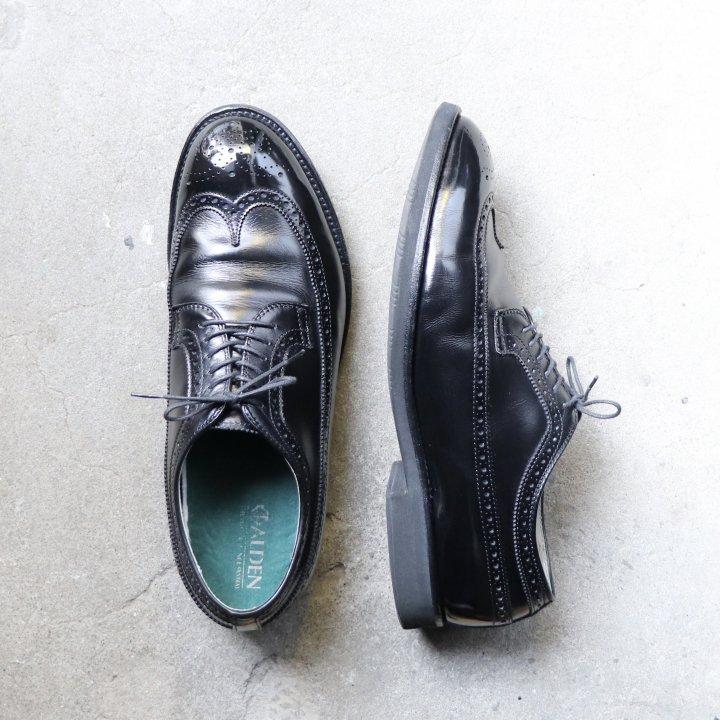 """""""美品"""" Alden(オールデン)× Moulded Shoe別注 Long Wingtip(ロングウイングチップ)US10.5 D モディファイド D8506 カーフ 箱/袋/インソール付"""