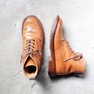 """【レディース】""""中古品"""" Tricker's(トリッカーズ)Country Boots(カントリーブーツ)UK5.5 マロン ブラウン MALTON L2508"""