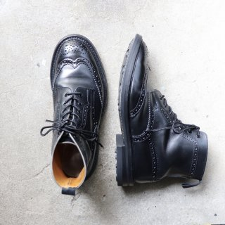 """""""美品"""" Tricker's(トリッカーズ)Country Boots(カントリーブーツ)UK8 MALTON M2508 ブラック 定価¥88,000-"""