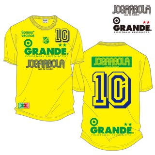 "<img class='new_mark_img1' src='https://img.shop-pro.jp/img/new/icons8.gif' style='border:none;display:inline;margin:0px;padding:0px;width:auto;' />JOGARBOLA×GRANDE ""Somos* vecinos"" COTTON T-Shirts - YEL/GRN/BLU"